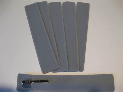 Lot of  6 GREY Velvet Pen Pouch//Sleeve// Holder