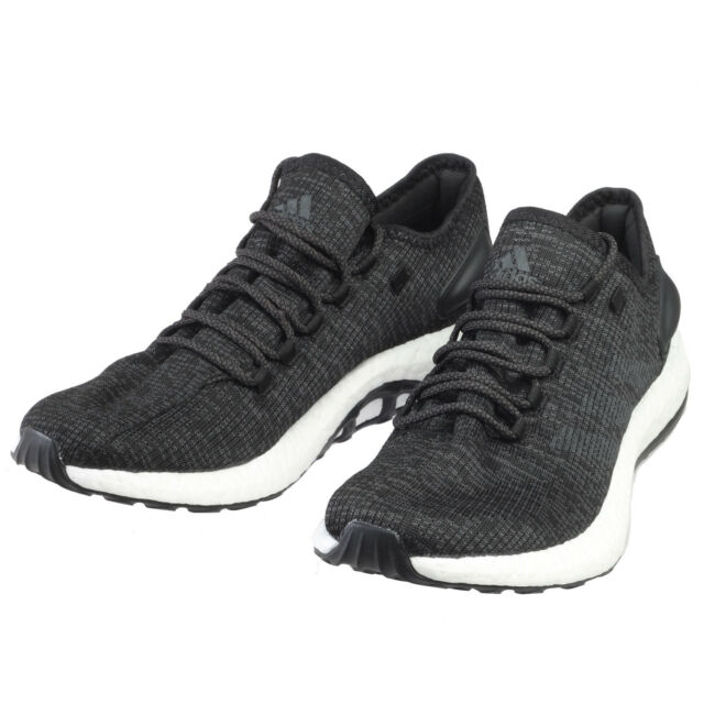 e804aaa5f Mens adidas Pure Boost Running Shoes Ba8899 Black   Grey Pureboost ...