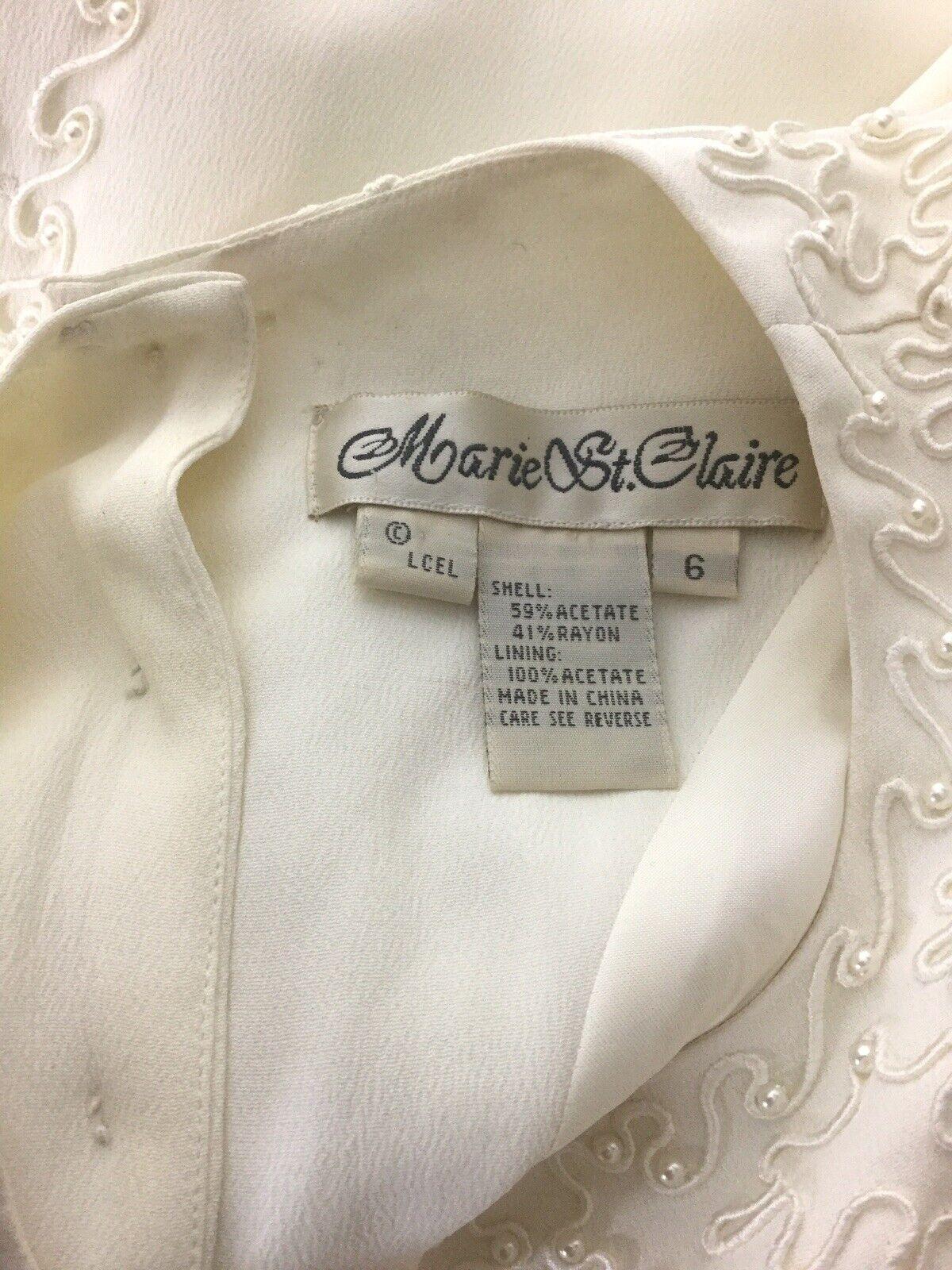 Marie St Claire dress blouse Vintage Sz 6 Pearl B… - image 4