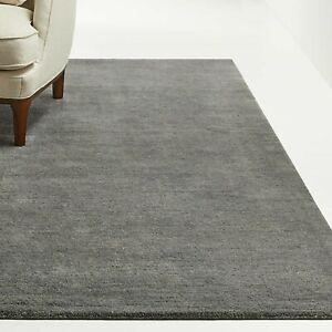 Area Rugs 5' x 8' Baxter Gray Hand Tufted Crate & Barrel Woolen Carpet