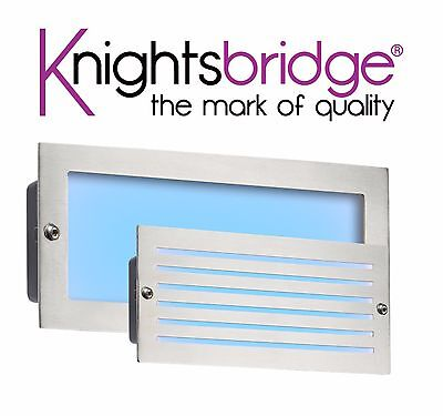 Knightsbridge 230V IP54 5W White LED Outdoor Garden Brick Light Bricklight Black