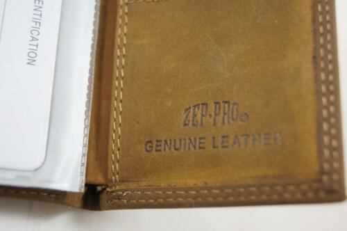 ZEP PRO NCAA Virginia Tech Crazy Horse Leather trifold Wallet Tin Gift Box