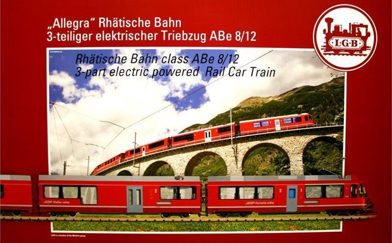 LGB 20220 E-Lok RHB TRIEBZUG ABE 8/12  ALLEGRA  TRENO CONFEZIONE ORIGINALE Traccia G