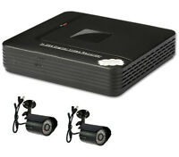 500GB 4 Channel H.264 D1 Network Mini DVR CCTV System with 2 x CMOS Cameras