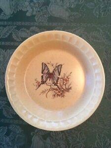 Vintage USA pottery butterfly tray