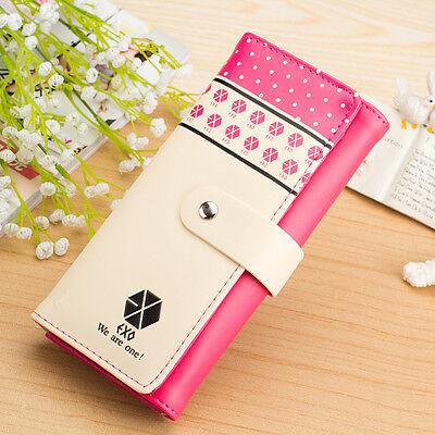 EXO exo-m exo-k Pink Long Wallet KPOP GOODS NEW