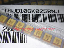 10uF//25V Tantalum Capacitor Size D Kemet T491D106M025AS 100pcs