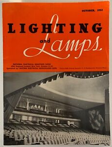 RARE-Vintage-50s-LIGHTING-and-LAMPS-Magazine-Mid-Century-Modern-October-1952