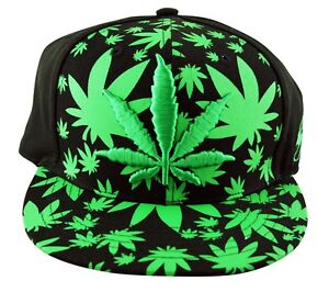 61cb9b42e6d Details about Men s Rasta Weed Flag Leaf Camo Flat Peak All Over Snapback  Cap Baseball Hat