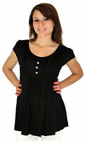 Black Maternity White Button Short Sleeve Cute Wedding Kawaii Pregnant Clothes