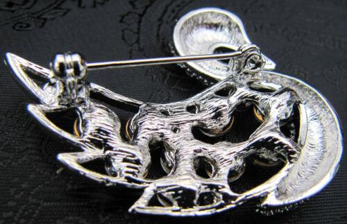 Exquisite Diamante Swan Riding Stock Pin Dressage Show