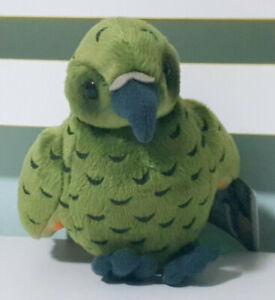 Antics-Kea-New-Zealand-Bird-Plush-Toy-w-Swing-Tag-Chirps-14cm-Tall