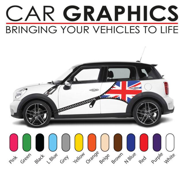 Mini cooper car graphics decals stickers vinyl design union jack mn24