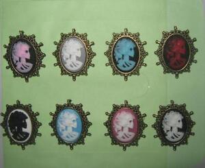 SKULL-lady-cameo-brooch-pin-PUNK-rock-rockabilly-DEAD-LADY-skull-pin-brooch