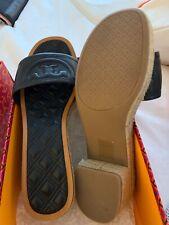 681f4585b item 6 Tory Burch Fleming Black Leather Slide espadrille Sandal Flip Flop 7  -Tory Burch Fleming Black Leather Slide espadrille Sandal Flip Flop 7