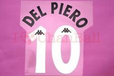 Del Piero #10 1997-1998 Juventus Homekit Nameset Printing