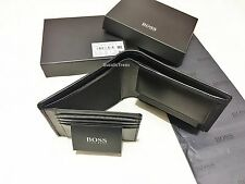 Brand New Hugo Boss 'Monad' Style Black Trifold Leather Wallet