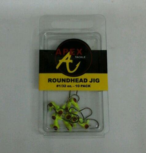 Apex roundhead Jig #1//32OZ AP32-10-3 Pacote Com 10