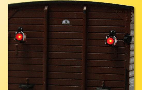 Viessmann HO 5069 2 Zugschlusslaternen Zugschlußleuchten