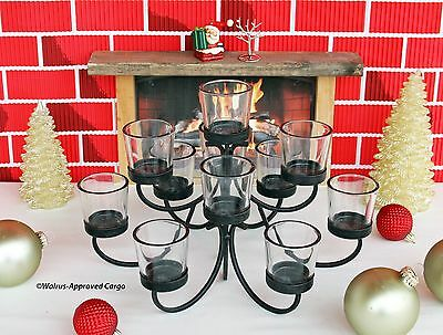 Pottery Barn Iron Votive Candelabra Centerpiece Lighten Up Your Meal Time Ebay