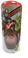 NEW CHILDRENS MARVEL AVENGERS CHARACTER DIGITAL WRIST WATCH AND MONEY BOX TIN