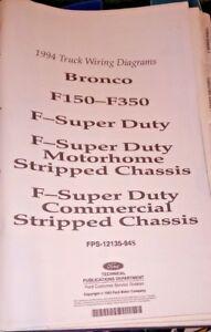 1994 FORD TRUCK F150 250 350 SUPER DUTY WIRING DIAGRAMS ...