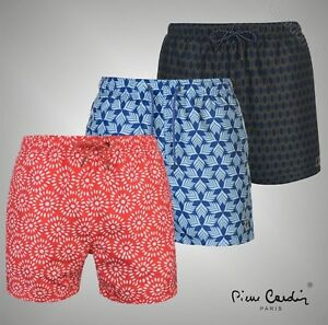 88828a76c8d3 Image is loading Mens-Designer-Pierre-Cardin-Lightweight-Geo-Swim-Shorts-