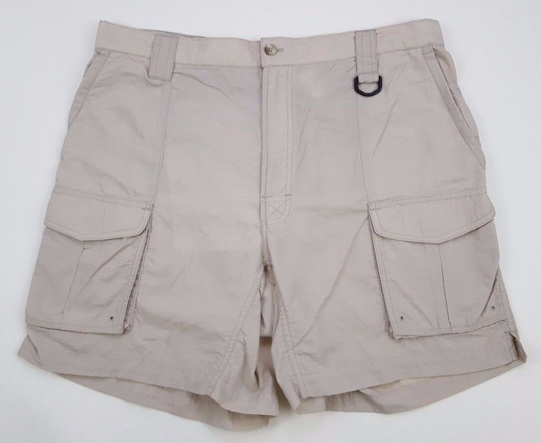 COLUMBIA Shorts PFG Mens LARGE Nylon BEIGE  Fishing SUMMER Fly SIZE Sz CARGO Man  discount sales