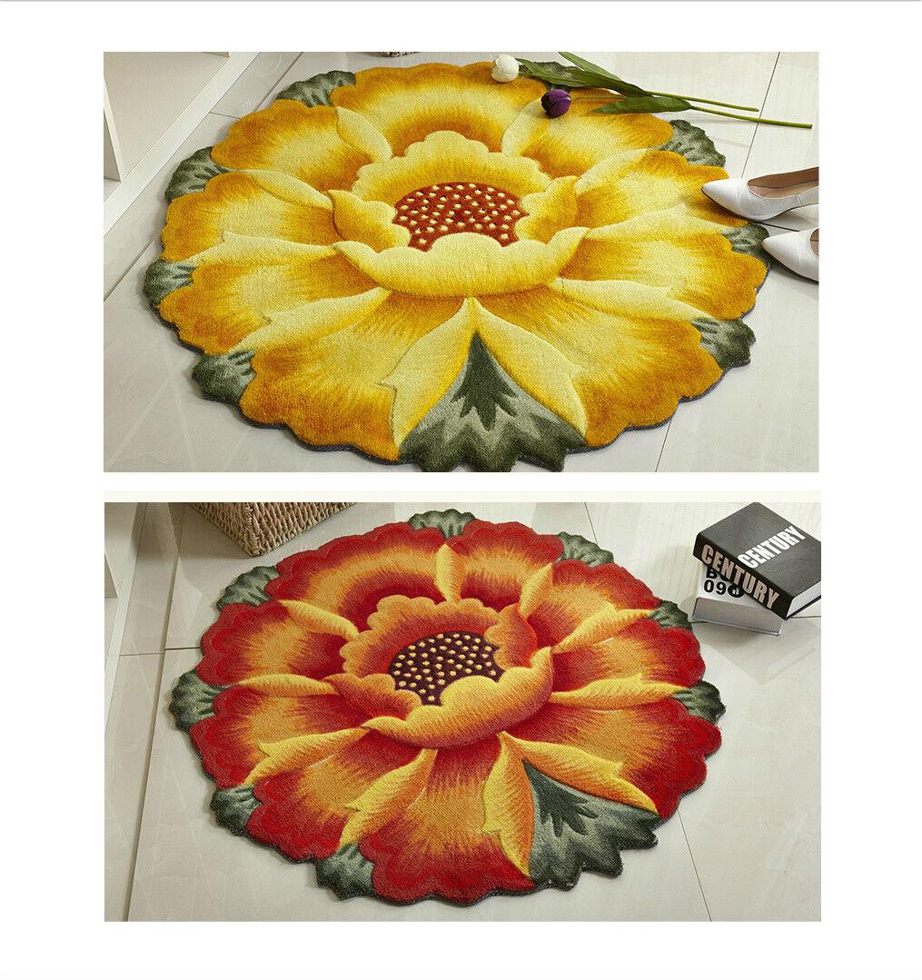 Floral circulaire De Luxe Tapis Tapis. cm 90 cm Tapis. 4deae5