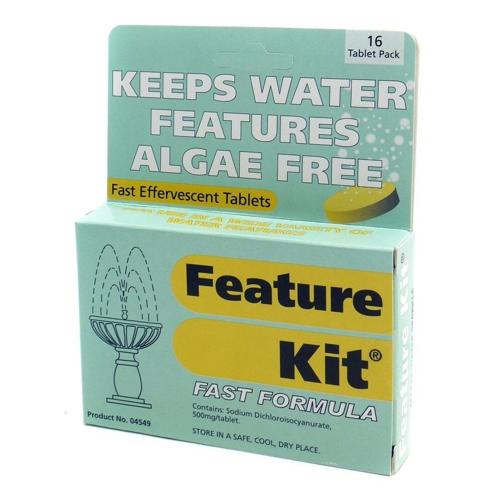 Water Feature Fountain Algae Remover Pond Pool Cleaner 16 Tablets Animals Safe
