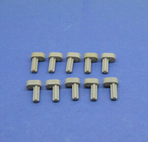 LEGO-10-x-Technik-Kolben-Motor-Verbinder-1x2-althell-grau-oldgrey-technic-2853