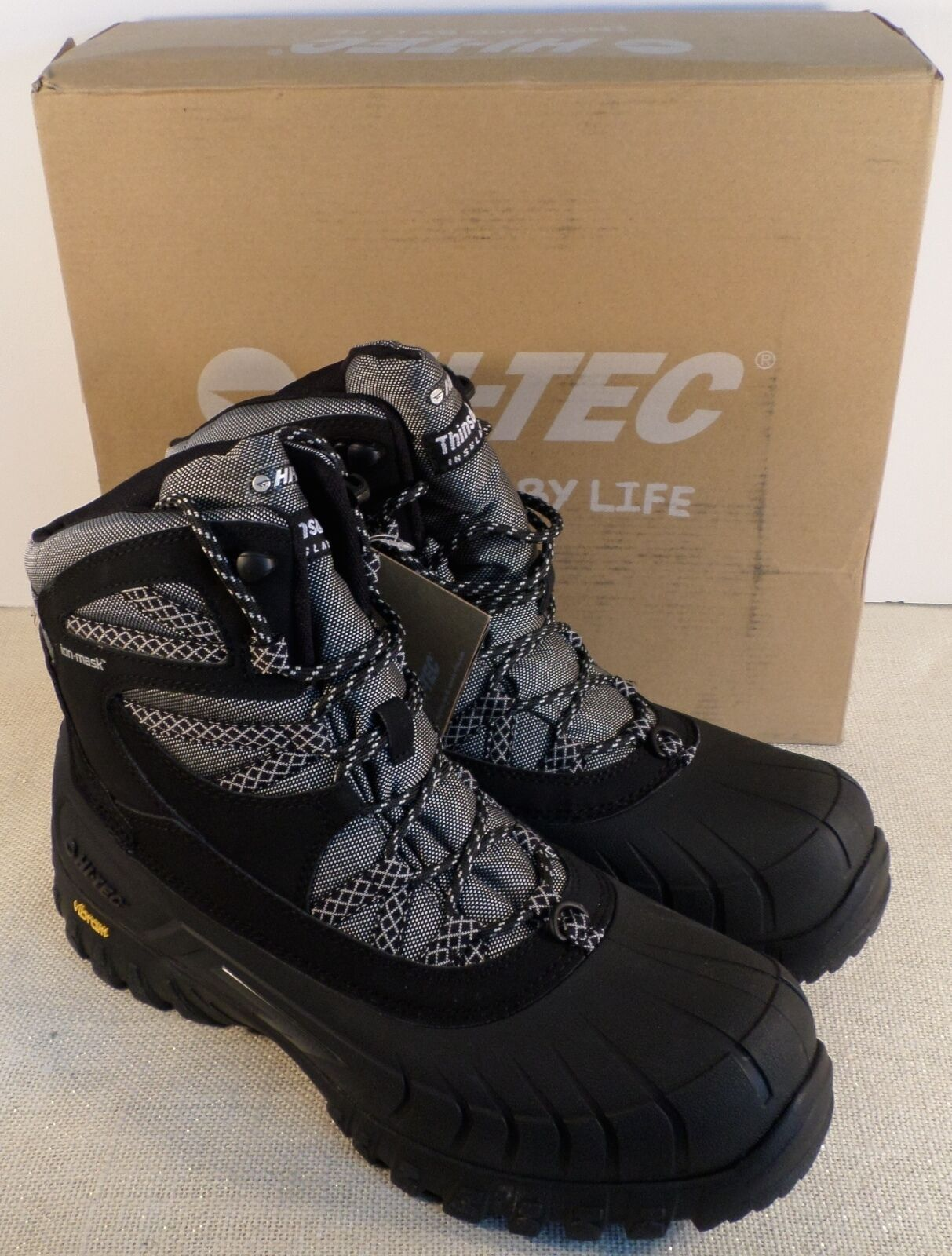HI-TEC 40798 MEN'S OZARK 200 I WP MEN'S BLACK BOOTS NEW IN BOX
