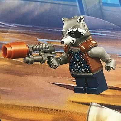 Lego 76102 ROCKET RACCOON With Gun,Thor's Weapon Quest Genuine Avengers Mini Fig
