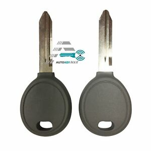 Pair Transponder Chip Ignition Car Key Replacement Blank For