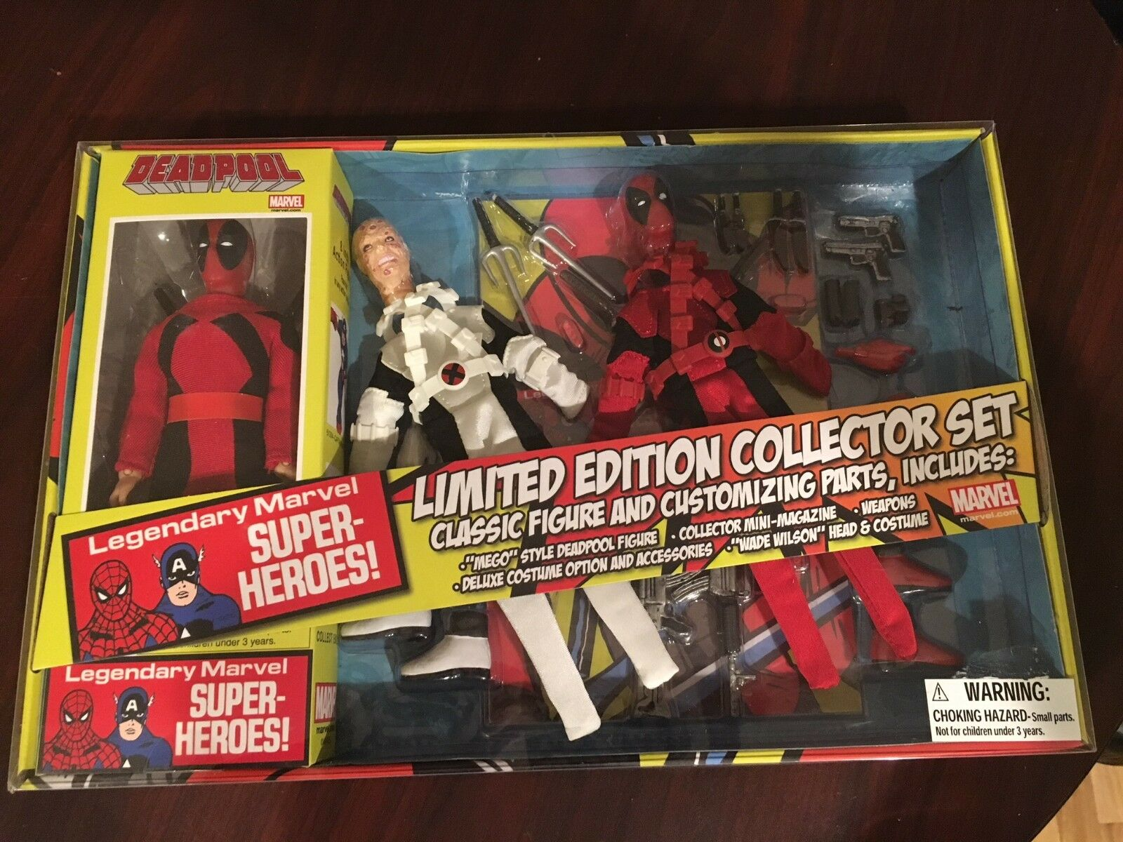New Deadpool Limited Collectors Edition Set 8 8 8  Pose-able Marvel Action Figure cf0a39