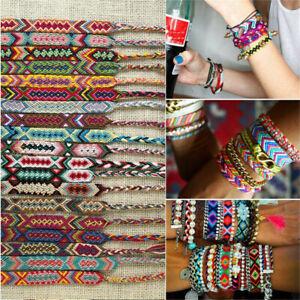 Bohemian-Handmade-Multi-Color-String-Braided-Woven-Rainbow-Friendship-Bracelet