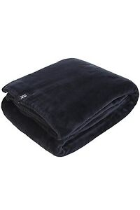 1.7 Tog Heat Holder Thermal Soft Fleece Blanket in Chocolate Brown 180cm x 200cm