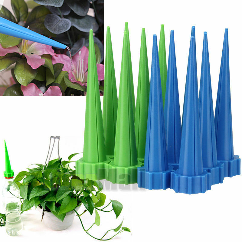 10xAutomatic Irrigation Garden Cone Watering Spike Plant Flower Waterers Bottle