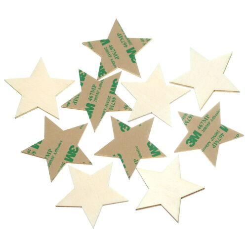selbstklebende Holz Sterne 1-10cm Wanddeko Basteln Deko Tischdeko