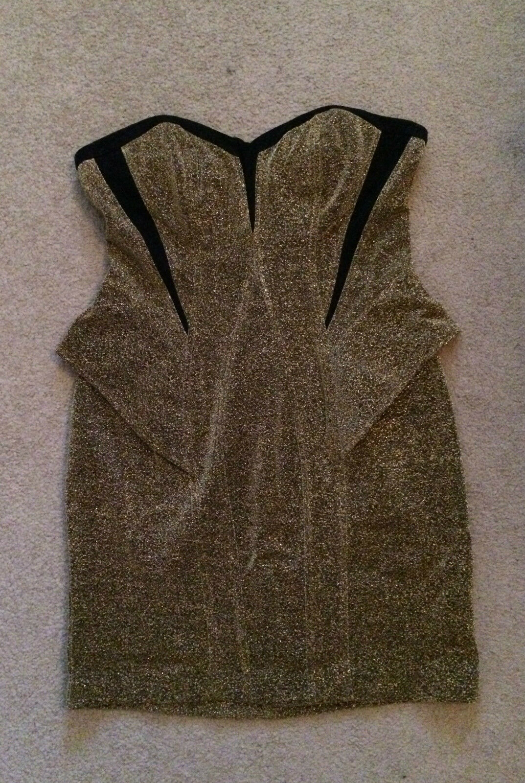 Arden B Metallic Tube Peplum Dress Strapless Strapless Strapless gold Small or Large b2ad45