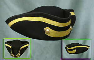 MENS-100-WOOL-TRICORN-QUALITY-HAT-S-MED-OR-L-XL-AS-WORN-BY-TOWN-CRIERS