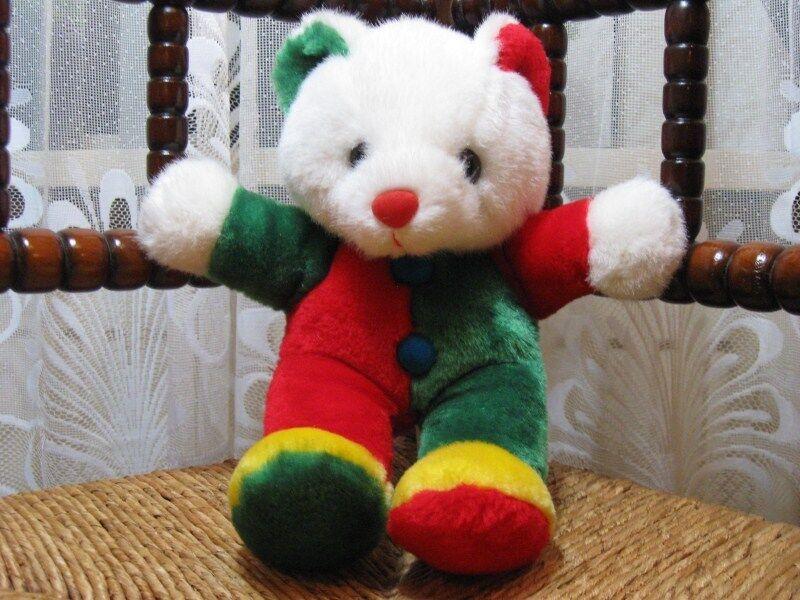 Vintage Natalis Holland Dutch Clown Teddy Bear