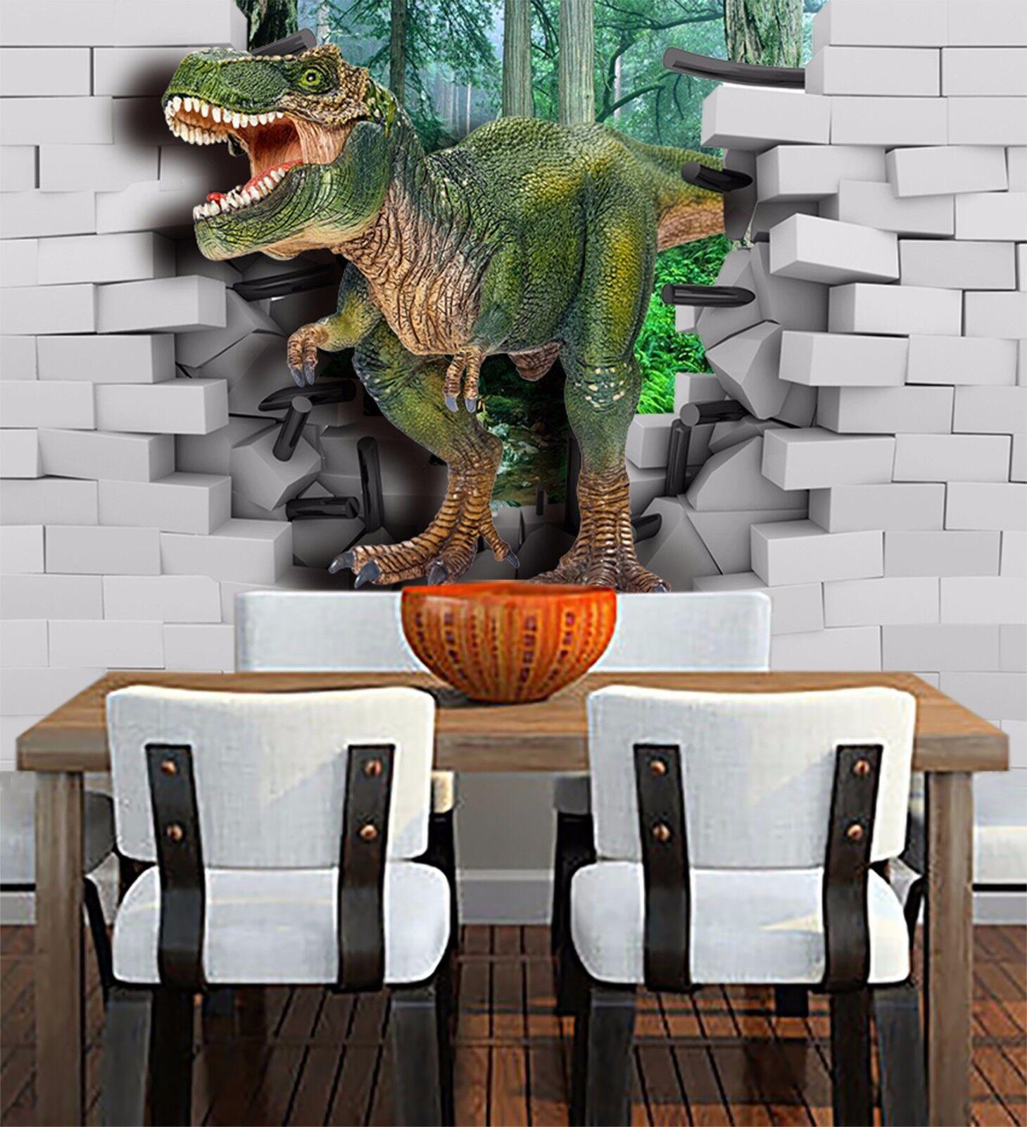 3D  Terrible dinosaurs Wall Paper Wall Print Decal Wall Deco Indoor wall Murals