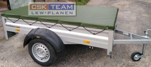 Flachplane für HUMBAUR Anhänger 2.10 x 1.15 x 0.06 in LKW Plane 680 gr//m² Oliv