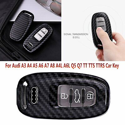 TOMALL Key Fob Case cover For Audi A3 A4 A6 A8 TT Q7 white