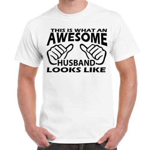 ALM786t-Homme Drôle Sayings Slogans Nouveauté T-shirts-Génial Mari comme tshirt