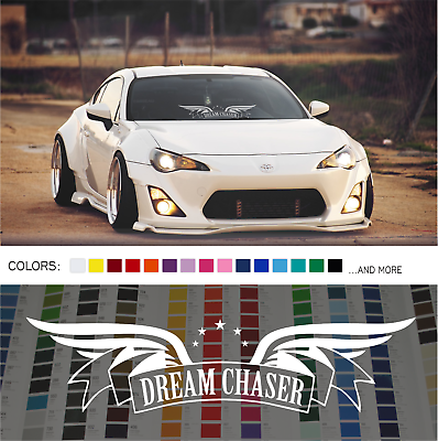 Dream Chaser Wings Sticker Banner Chrome Oilslick Windshield Decal
