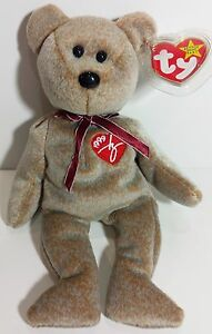 "TY Beanie Babies /""1999 SIGNATURE BEAR/"" MWMT MUST HAVE New with Tag RETIRED"