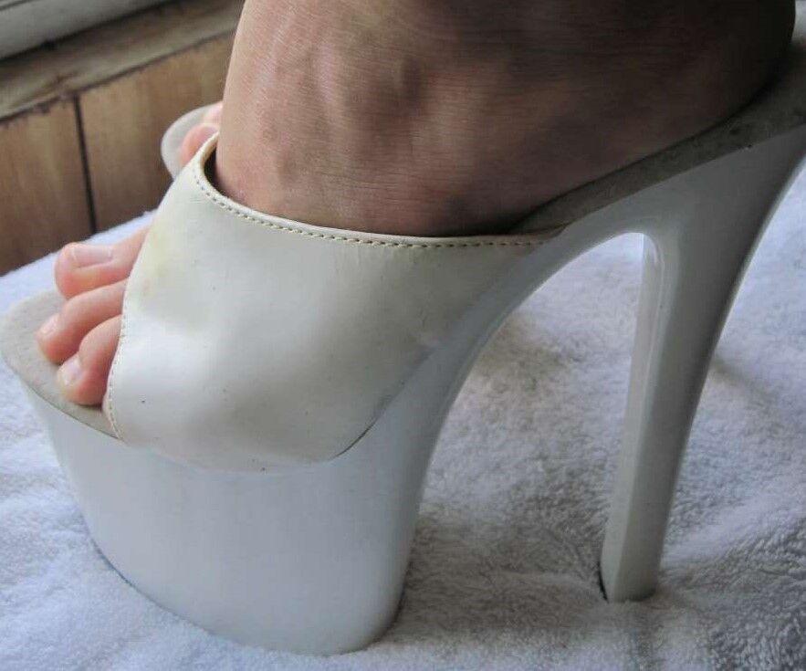 White 8 1 2 2 2 8.5 Crystal Fashion Footwear High Heel shoes Leather Man Made Dancer ffd524