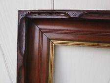 c1860 Excellent Large AMERICAN ADIRONDACK Carved Walnut Antique 20 x 24 Frame